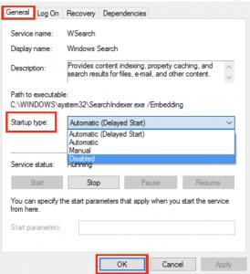 disable searchfilterhost.exe high cpu usage