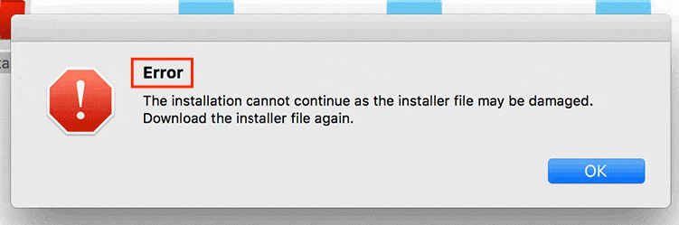 """rror installing Adobe Photoshop """"The installation cannot continue as the installer file may be damaged. Download the installer file again.�"""